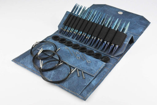 "LYKKE DRIFTWOOD 5"" IC Set Indigo Needles & Hooks Lykke The Wool Queen"