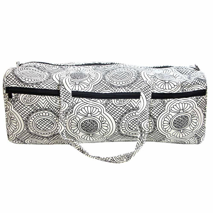 VIVACE Knitting Bag White with Black The Wool Queen The Wool Queen 060154095628