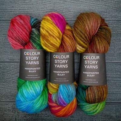 Colour Story Yarns Handpainted Bulky Yarn The Wool Queen The Wool Queen
