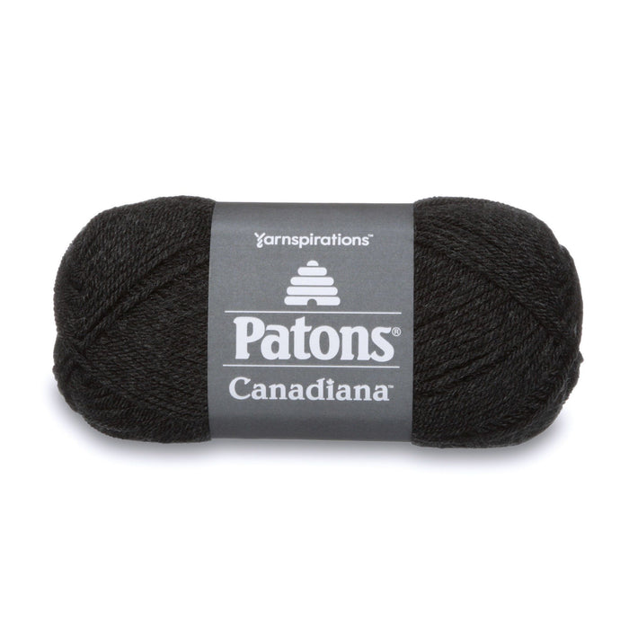 Patons Canadiana Dark Grey Mix 10042 1 Yarn Patons The Wool Queen 057355334366