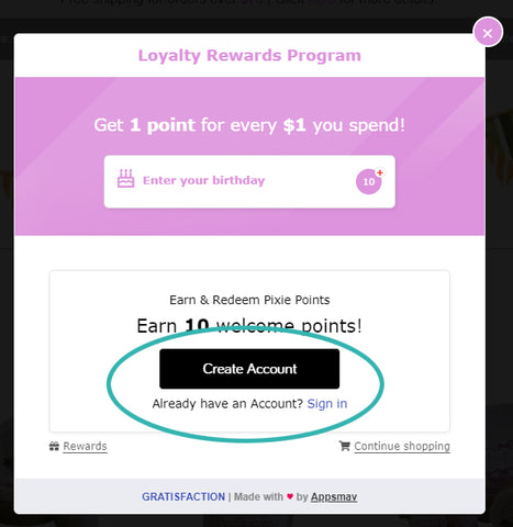 Sign In or Create an Account