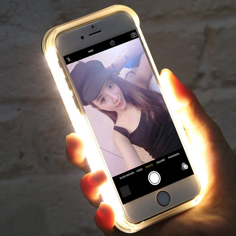 LED Flash Light Selfie TPU PC Case For iPhone 7 Case 6 6s Plus - Maspormenos sales
