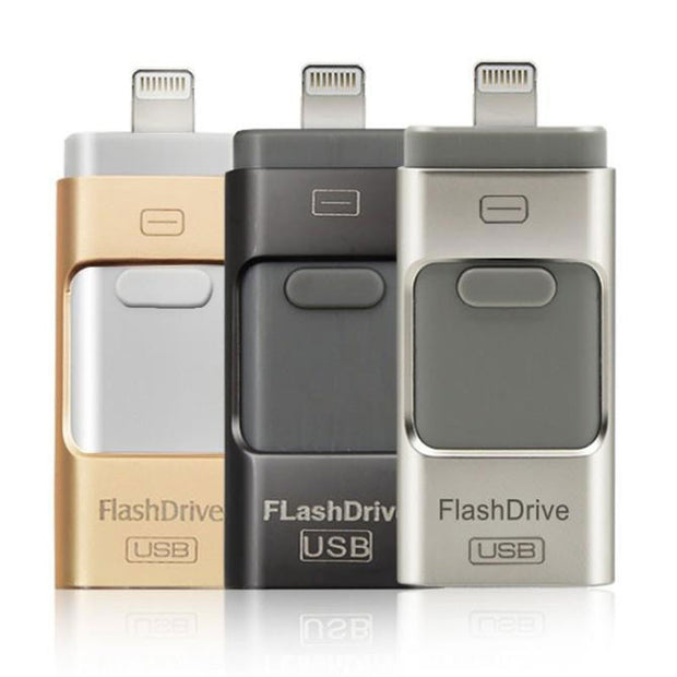 iFlash Drive HD U-Disk Micro USB interface 3 in 1 for Android/iPhone - Maspormenos sales