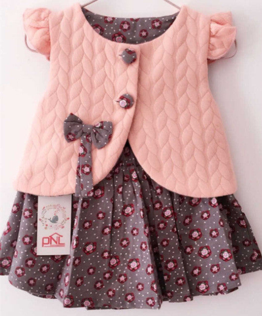 Luxury  Baby Girl Cotton Dresses Sleeveless