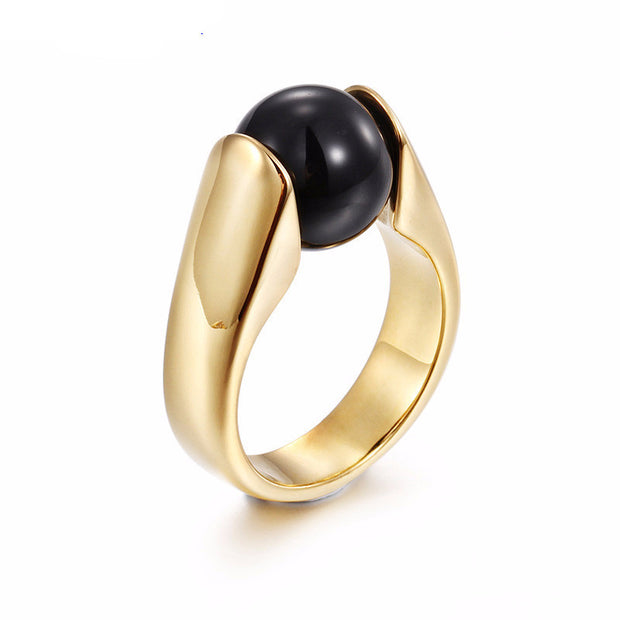 Gold Stainless Steel Wedding Bands Rings - Maspormenos sales