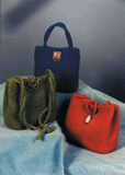 Triangle Felted Bags