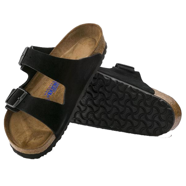 Ladies Arizona Black Suede Birkenstock sandals