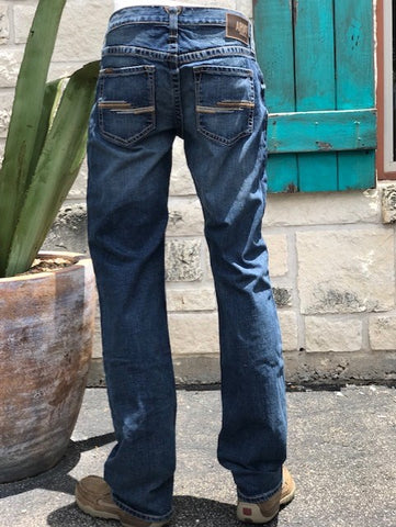 Men's Ariat Cowboy Western Boot Cut M2 blue denim jean