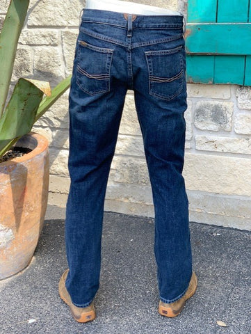 Men's Ariat M1 Legacy Blue Jean. Back View