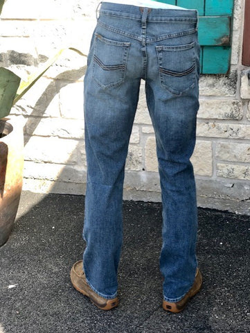 Men's Ariat M4 Legacy Blue Jean. Back View