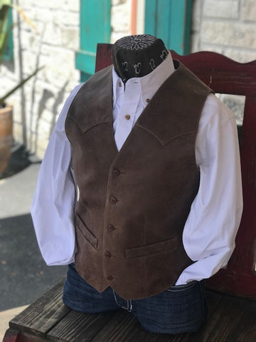 Men's Leather Vest - 50360