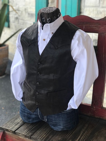Men's Leather Vest - 50363