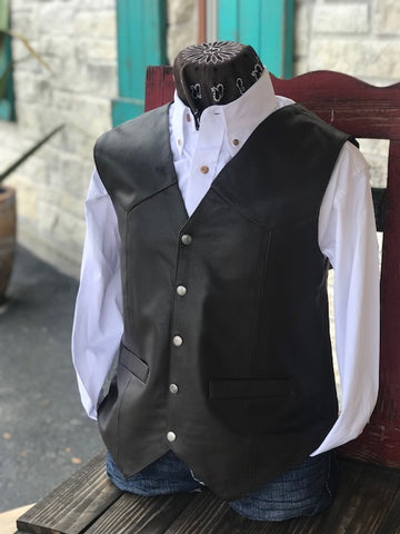 Men's Leather Vest - 507143