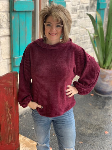 Ivy Jane, Ladies Cowl Neck Sweater-630154