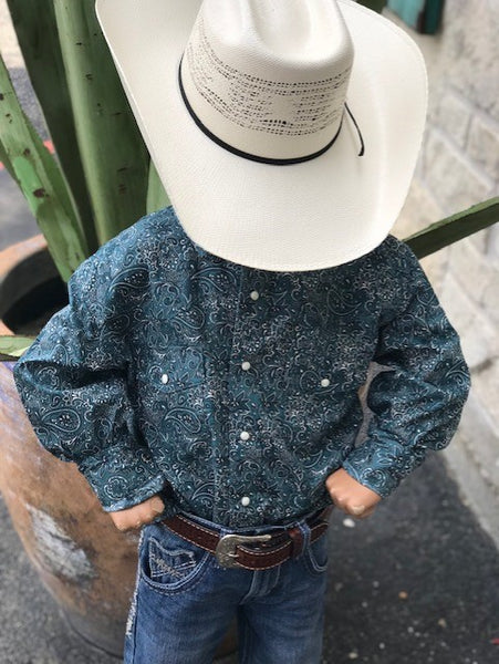 Cinch, Boy's Western Snap Shirt