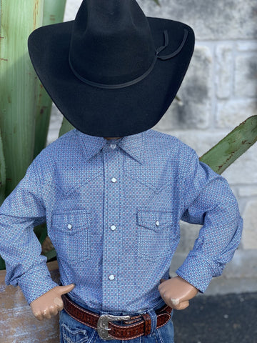 Cinch, Boy's Western Snap Shirt.