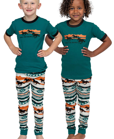 Teal & Orange PJ's - Blair's Western Wear Marble Falls, TX