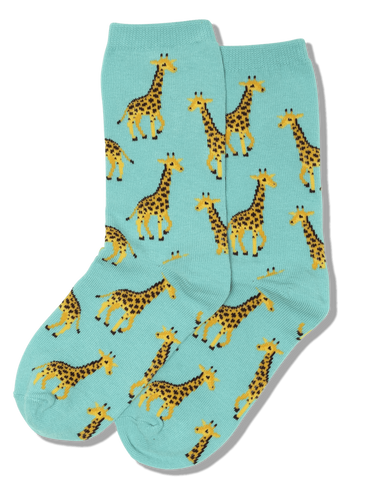 Mint Green Giraffe Kids Socks - HK000005I - Blair's Western Wear Marble Falls, TX