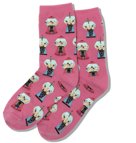 Hot Pink Youth Gumball Socks - HK0000024 - Blair's Western Wear Marble Falls, TX
