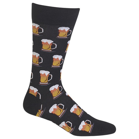 Crazy Beer Me Men's Fun Fashion Black Socks - HM100506