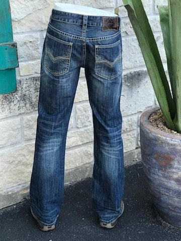 Rock and Roll Double Barrel Fit Straight Leg Jean - MOS4423