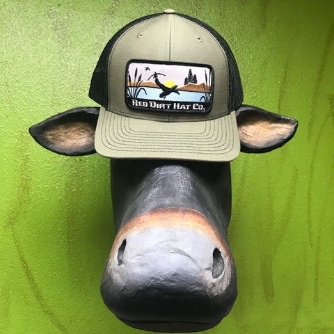 Red Dirt Hat Co logo duck hunting cap