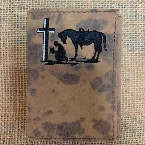 Praying Cowboy Trifold Wallet-XRC103T