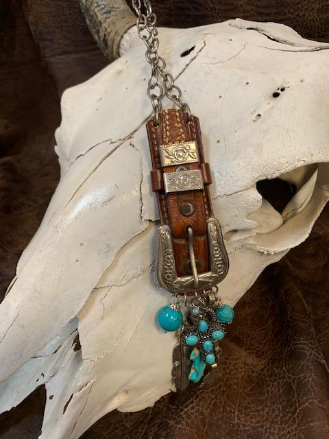 Upcycled Belt Buckle Necklace
