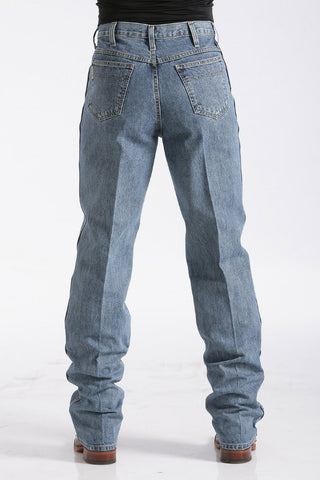 Men's Cowboy blue jean green label by Cinch in the lite wash 90530001