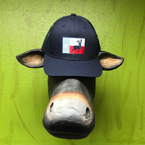 Texas Flag with Deer Burlebo Cap