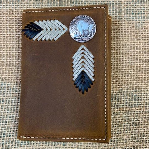 Men's Western Trifold Brown Wallet - Blair's Western Wear Marble Falls, TX