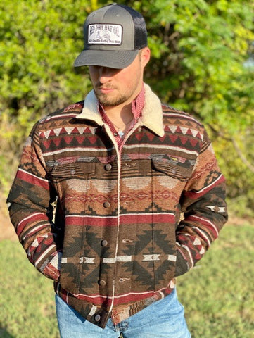 Cranberry Brown Aztec Jacket - Blair's Western Wear Marble Falls, TX