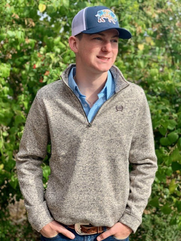 Men's Cinch Sweater Pullover Heathered jacket 1080003