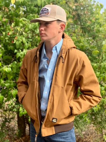 Men's duck heavy duty work jacket - hj51bd