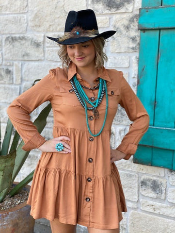 Butterscotch Dress - Blair's Western Wear Marble Falls, TX