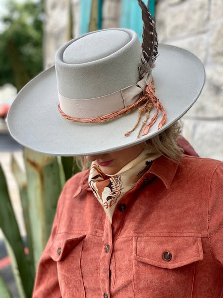 Tan Grey Felt Hat - Blair's Western Wear Marble Falls, TX