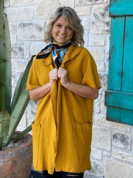Ladies Golden Mustard Cardigan - Blair's Western Wear Marble Falls, Texas