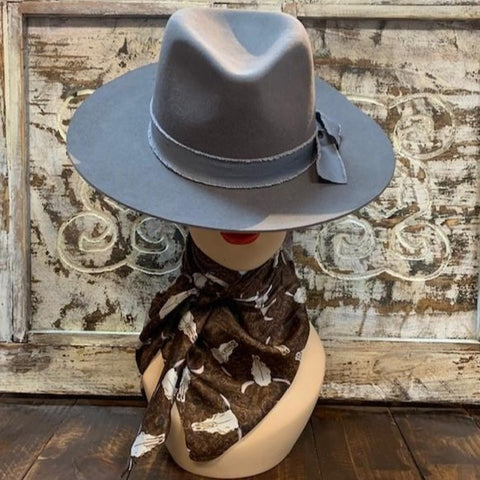 Brown Steer Scarf - Blair's Western Wear Marble Falls, TX