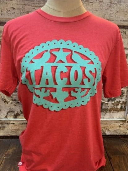 Red & Turquoise T-Shirt - Blair's Western Wear Marble Falls, TX