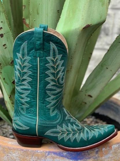 Ariat Ladies Cowgirl Western Turquoise Boot - 10017401