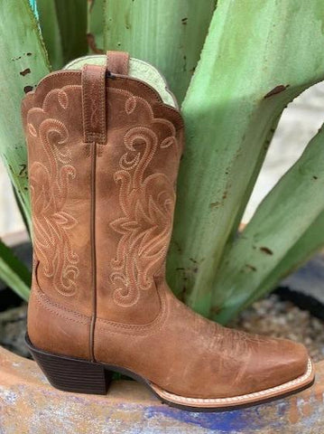 Ariat Ladies Cowgirl brown western boot with riding heel - 15845