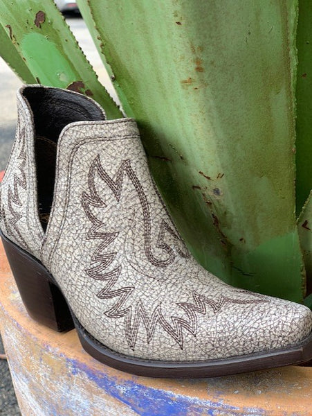 Ladies Ariat Dixon White Crackle Bootie - 10027284