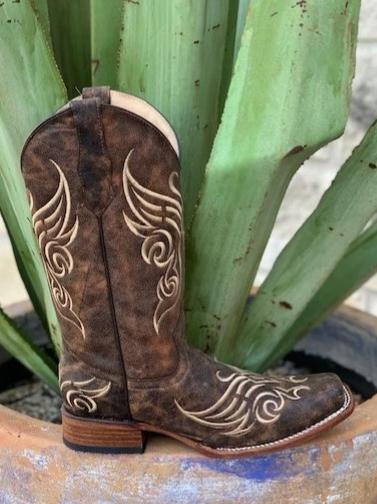 Ladies Circle G Western Cowgirl Square toe boots - L5058