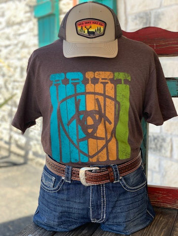 Brown Ariat T-shirt Blair's Western Wear Marble Falls, TX