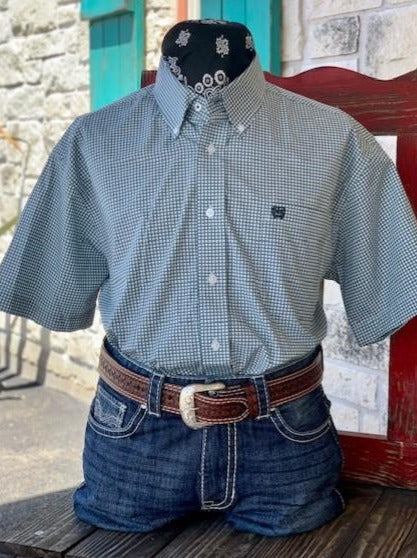 Hunter Green & Mint Shirt - Blair's Western Wear Marble Falls, TX