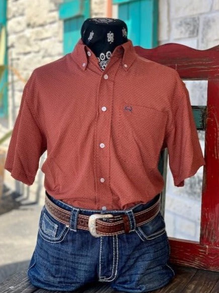 Rust & Navy Shirt - Blair's Western Wear Marble Falls, TX
