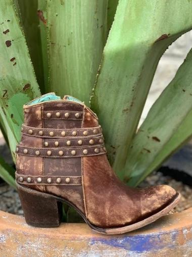 Ladies Corral Studded Short Boot western heel - C2993