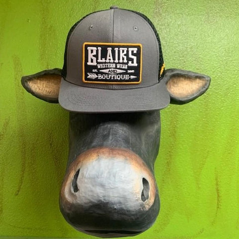 Black & Grey Cap - Blair's Western Wear Marble Falls, TX