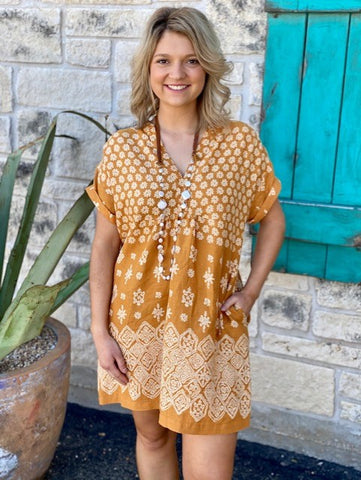 Ladies Honey Floral Ivy Jane Dress - 74446 - Blair's Western Wear Marble Falls, TX