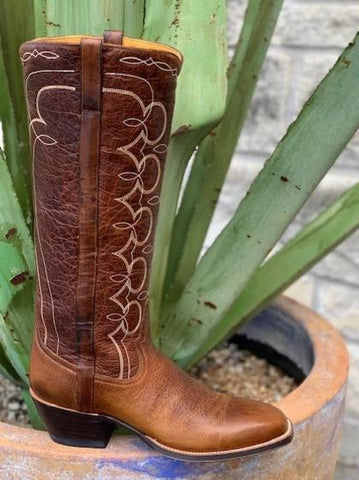 Ladies Handmade Tall Top Rod Patrick Boot - 13730DARK